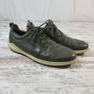 Men's Ecco Green Leather lace up sneakers 44 - 10